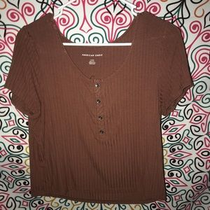 American Eagle Ribbed Top